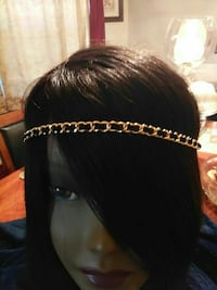 Gold chain hairdress