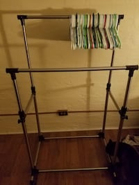 black and gray clothes rack Portland, 97206