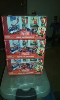 Set of 3 Coca-Cola poster car collection unopened  Homeland, 92548