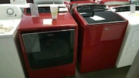 two black front-load clothes washer and dryer set Austin, 78741
