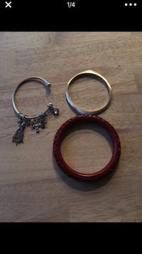 Bracelet lot - includes charms, silver, gold, wood San Diego, 92110