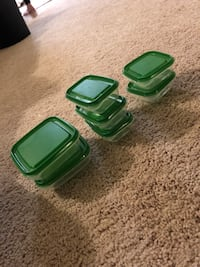 three green plastic containers with lids Rockville, 20850