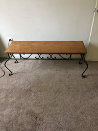 Solid Oak Cast Iron Bench Wilmington, 19808