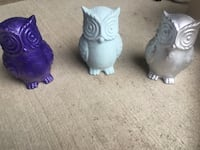 3 ceramic owls figurines $12 each