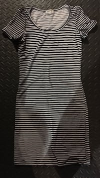 Small black and white stripes dress
