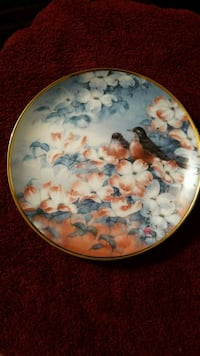 Limited edition antique plate fine porcelain 254 mi