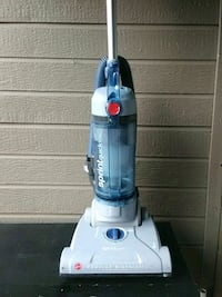 white and blue Hoover upright vacuum cleaner Clovis, 93611
