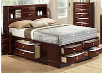 Queen size bed set with built in drawers (bed set only) Hampton, 23666