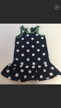 BabyGAP Toddler Girl Dress Navy White Polka Dots 3T Washington, 20001