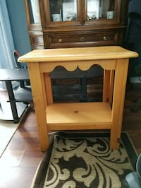brown wooden single-drawer side table Simcoe, N3Y 4A2