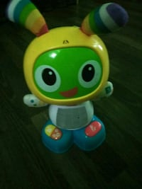yellow and green Fisher-Price learning toy