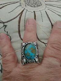 Antique vintage tribal turquoise 925s