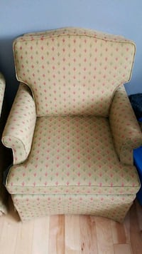 brown and red floral fabric sofa chair Barrie, L4N 9X4