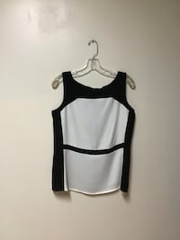 Women's ANN TAYLOR Black and white polyester blouse… Size-small Manasquan, 08736
