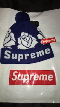 SUPREME blue rose beanie sold out drop hardly used at all price is negotiable  Bakersfield, 93313