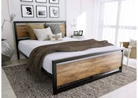 QUEEN SIZE NEW wood bed frame  Rockville, 20852