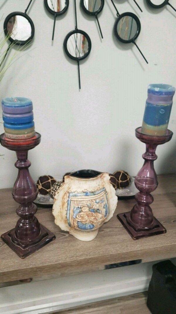 Candle holder and decorative vase