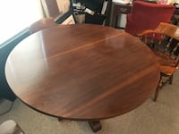 Nice dinning table with 4 sturdy,  comfortable chairs.   Fairfax, 22031