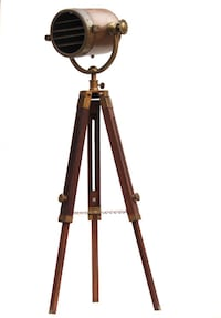 Yantiq black and brown tripod stand null