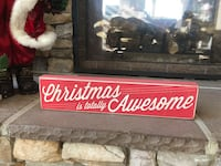 Christmas is Awesome wooden sign Ellicott City, 21042