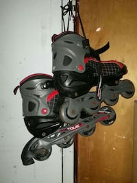 black-and-gray inline skates Clifton