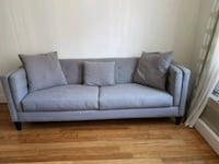 Heather gray track arm sofa  Brooklyn, 11221
