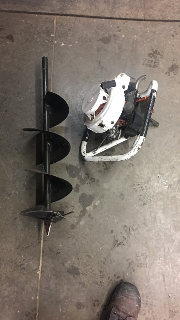 White and black ice auger (Jiffy)