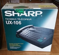 Sharp facsimile fax machine with phone, UX-106, plus paper rolls Toronto, ON M6E, Canada