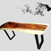 brown and black wooden table