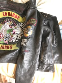 Ed Hardy leather jacket Centreville, 20120
