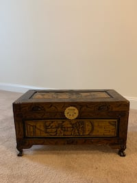 Small Wooden Embossed Chest