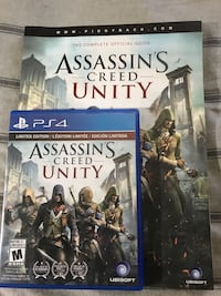 Assassin's creed unity ps4 game with guidebook
