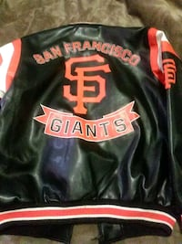 Black leather giants jacket Salinas, 93901
