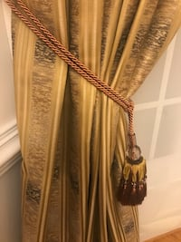 Gold curtain with backing Centreville