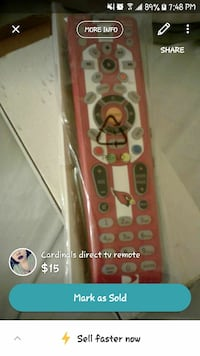 red and white remote control with pack screenshot