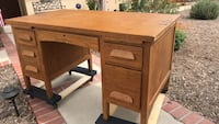 Oak desk.  30 x 50 x 30 Fullerton, 92831