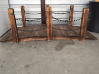 brown wooden headboard and footboard Bedford, 76021