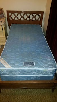 Used Twin Bed Frame With Box Spring And Mattress For Sale