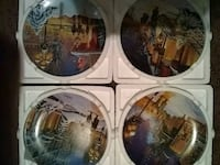 four assorted decorative plates in box Midvale, 84047