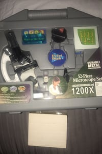 SCIENCE toy microscope set + extras