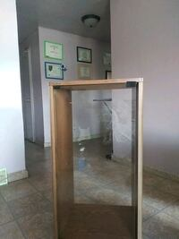 Cabinet. Glass door.