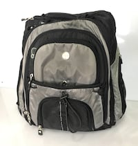 Dell Computer Laptop Backpack Black Padded EUC