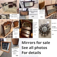 Mirrors for sale.  See all photos for details