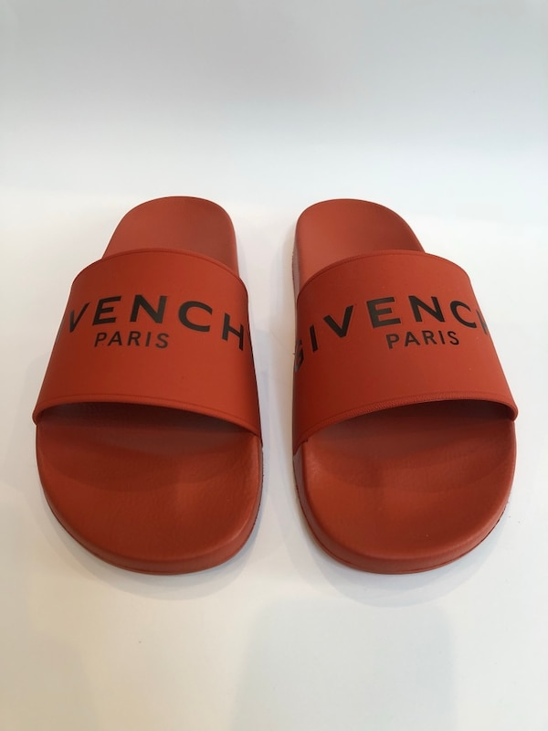feff10a7b98c72 Used GIVENCHY PARIS SANDALS (44) IN ORANGE RUBBER for sale in Fort Lee -  letgo