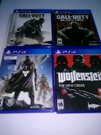 four Sony PS4 game cases South Bend, 46613