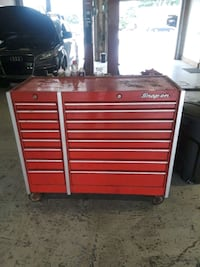 red and chrome Snap-on tool chest Tinicum Township