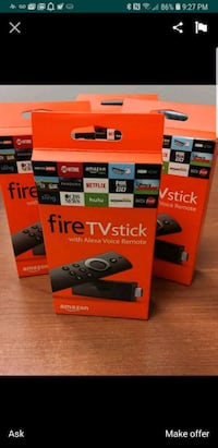 four black Amazon Fire TV Stick boxes screenshot Vienna, 22180