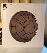 Brand New Umbra Caged Wall Clock