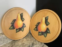Two brown and yellow bird print ceramic plates Aurora, L4G 2S1