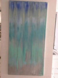 white and green abstract painting North Miami, 33161